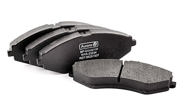 Колодка дискового тормоза передняя 14'  Daewoo Lanos 1.6i 16V, Nubira 1,6, Chevrolet Lacetti1,6 16V AURORA