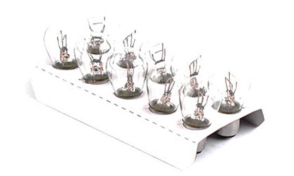 Лампа автомобильная P21/5W 12V 21/5W BaY15d  (стоп-сигналы/габариты, фонари заднего хода, задние противотуманные фонари) (2-х контактная) (10 шт.) AURORA