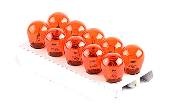 Лампа автомобильная PY21W 12V 21W BaU15s оранжевая (указатели поворота перед, зад) (10 шт.) AURORA