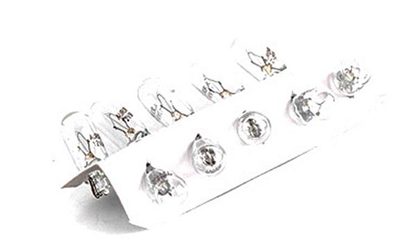 Лампа автомобильная W5W 12V 3W T10 (указатели поворота (боковые), габариты, стояночное освещение/габаритные) (10 шт.) AURORA